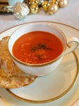 Tomato Fennel Soup with Gruyere Dippers