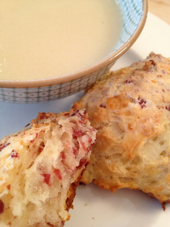 Corned beef and cheddar biscuits