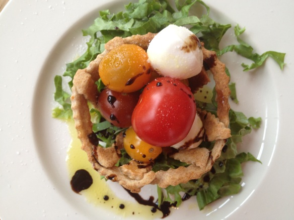 cracker basket caprese salad