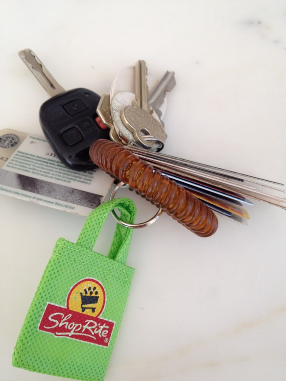 Of all the great samples and freebies, I was most excited about this ShopRite key ring -  meant to remind you to bring your reusable bags into the store. I always forget mine!