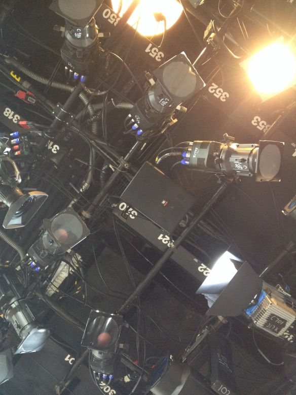 Overhead view of the TODAY Show set