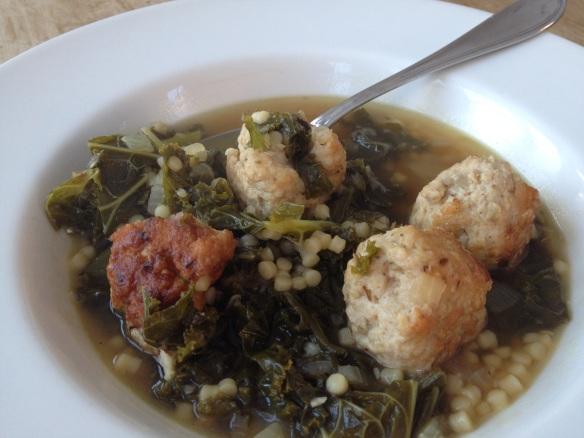 Turkey meatballs wedding soup