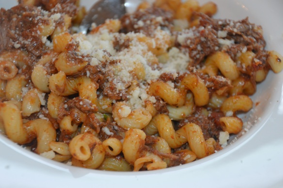 brisket ragu with pasta