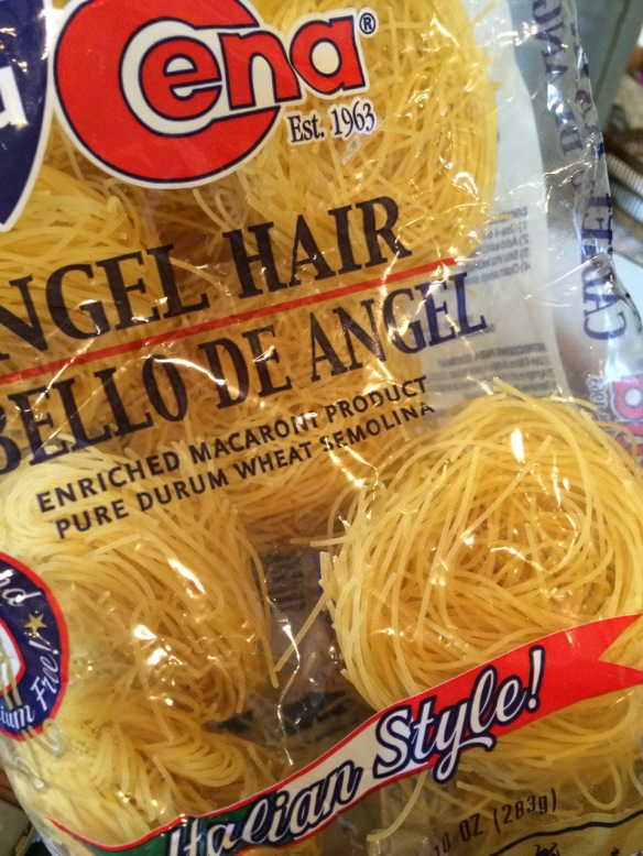 Any angel hair pasta will work, but nests are best!