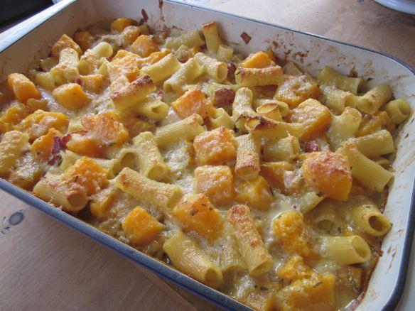 Butternut squash rigatoni baked