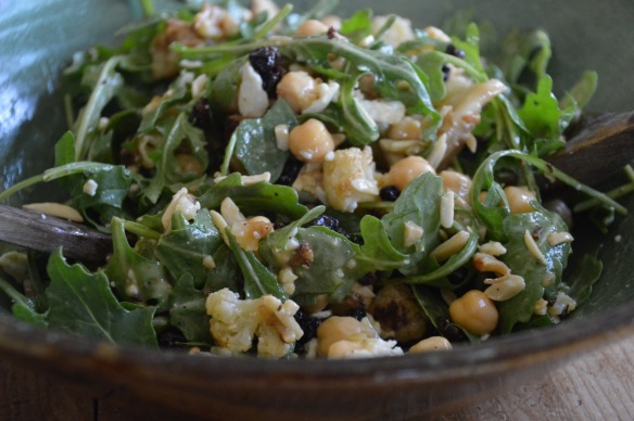 Roasted Cauliflower Salad with Arugula